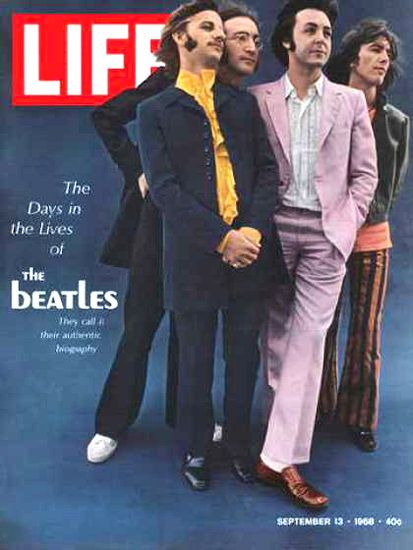 Life Magazine Copyright 1968 Days In The Lives Of Beatles | Vintage Ad and Cover Art 1891-1970