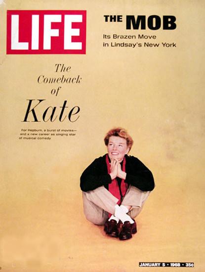 Life Magazine Copyright 1968 Katherine Hepburn Comeback | Sex Appeal Vintage Ads and Covers 1891-1970