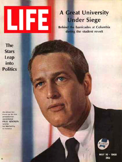 Life Magazine Copyright 1968 Paul Newman Into Politics | Vintage Ad and Cover Art 1891-1970