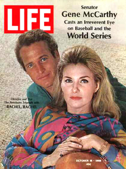 Life Magazine Copyright 1968 Paul Newman J Woodward | Vintage Ad and Cover Art 1891-1970