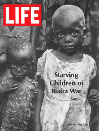 Life Magazine Copyright 1968 Starving Children Biafra War | Vintage Ad and Cover Art 1891-1970