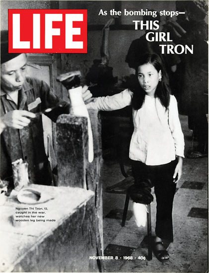 Life Magazine Copyright 1968 Vietnam Bombing Stops Girl | Vintage Ad and Cover Art 1891-1970