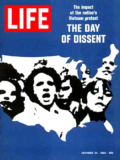 Life Magazine Copyright 1969 Day Of Dissent Vietnam | Vintage Ad and Cover Art 1891-1970
