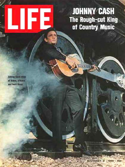 Life Magazine Copyright 1969 Johnny Cash The Rough-Cut | Vintage Ad and Cover Art 1891-1970