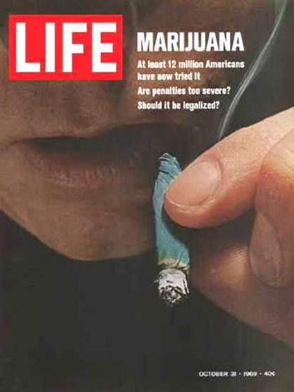 Life Magazine Copyright 1969 Marijuana 12 Million US Do   Vintage Ad and Cover Art 1891-1970