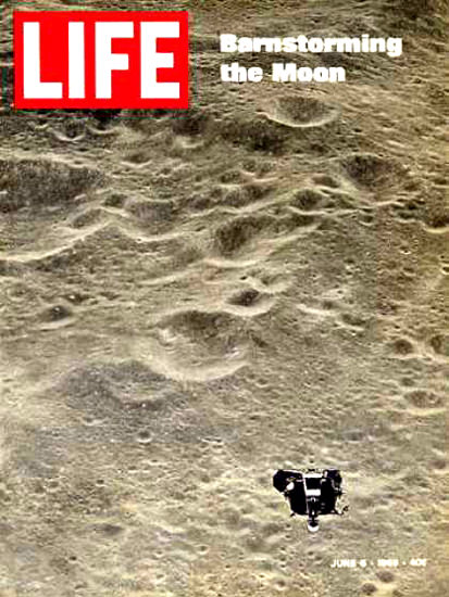 Life Magazine Copyright 1969 Moon Surface Barnstorming | Vintage Ad and Cover Art 1891-1970