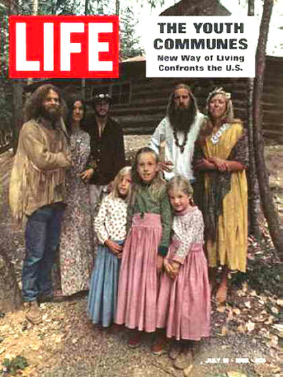 Life Magazine Copyright 1969 Youth Communes US Hippies | Vintage Ad and Cover Art 1891-1970