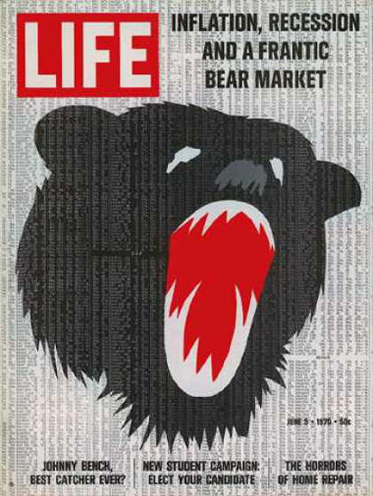 Life Magazine Copyright 1970 Inflation Recession Market | Vintage Ad and Cover Art 1891-1970