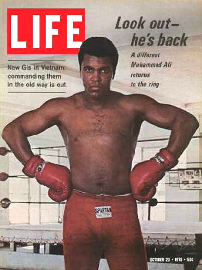 Life Magazine Copyright 1970 Muhammad Ali Returns | Sex Appeal Vintage Ads and Covers 1891-1970