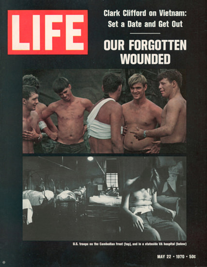 Life Magazine Copyright 1970 Vietnam Forgotten Wounded | Vintage Ad and Cover Art 1891-1970