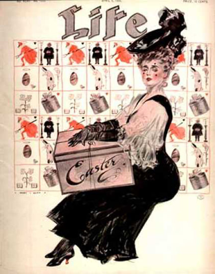 Life Magazine Cover Copyright 1906 Easter Hat Box | Vintage Ad and Cover Art 1891-1970