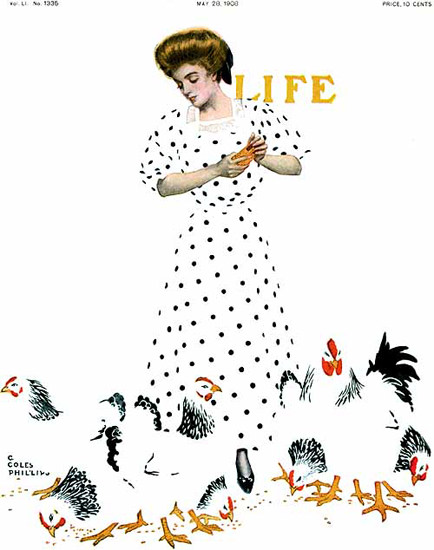 Life Magazine Cover Copyright 1908 | Vintage Ad and Cover Art 1891-1970