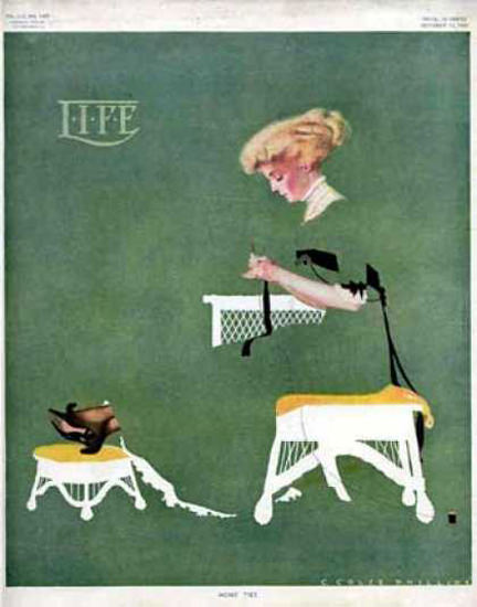 Life Magazine Cover Copyright 1909 The Girl In Green | Vintage Ad and Cover Art 1891-1970