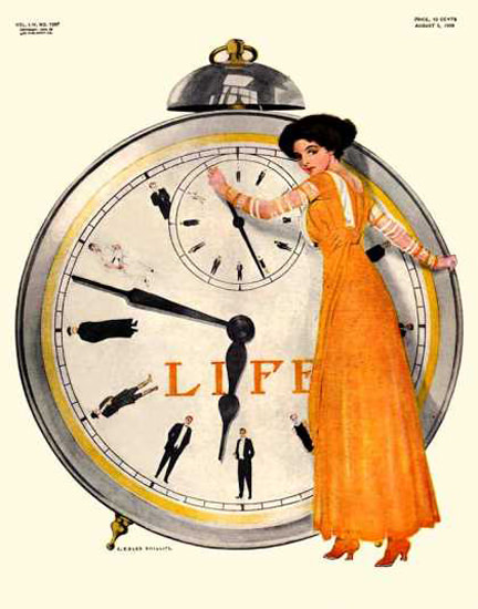Life Magazine Cover Copyright 1909 Women Rule The Time | Vintage Ad and Cover Art 1891-1970