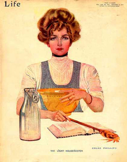 Life Magazine Cover Copyright 1911 The Light Housekeeper | Vintage Ad and Cover Art 1891-1970