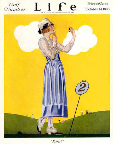 Life Magazine Cover Copyright 1920 Golf Number Fore   Sex Appeal Vintage Ads and Covers 1891-1970