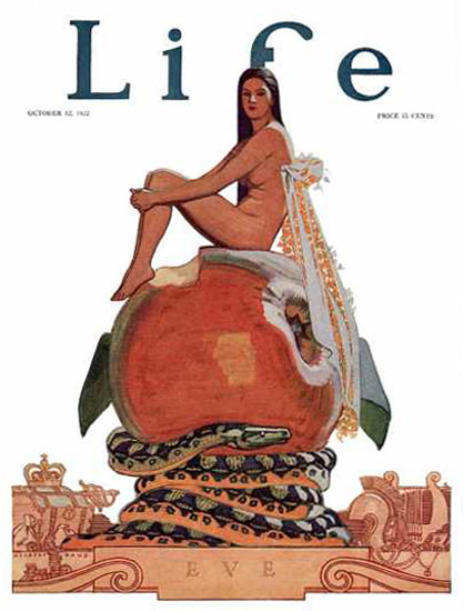 Life Magazine Cover Copyright 1922 Eve Apple Snake | Sex Appeal Vintage Ads and Covers 1891-1970
