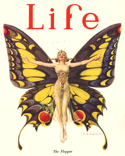 Life Magazine Cover Copyright 1922 The Flapper | Sex Appeal Vintage Ads and Covers 1891-1970