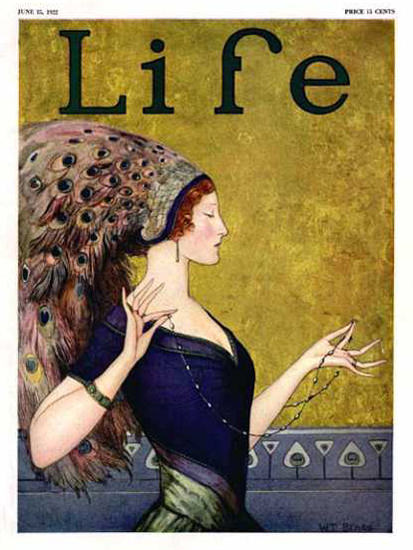 Life Magazine Cover Copyright 1922 The Peacock Woman | Sex Appeal Vintage Ads and Covers 1891-1970