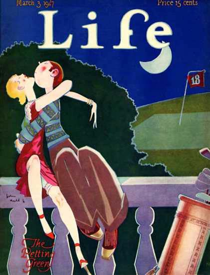 Life Magazine Cover Copyright 1927 The Petting Green | Vintage Ad and Cover Art 1891-1970