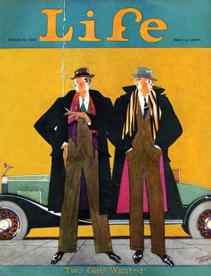 Life Magazine Cover Copyright 1928 Two Girls Wanted | Sex Appeal Vintage Ads and Covers 1891-1970