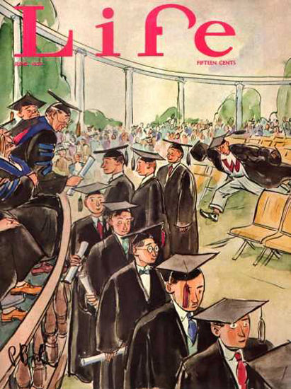 Life Magazine Cover Copyright 1936 Graduation | Vintage Ad and Cover Art 1891-1970