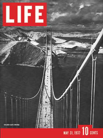 Life Magazine Cover Copyright 1937 Golden Gate Bridge | Vintage Ad and Cover Art 1891-1970