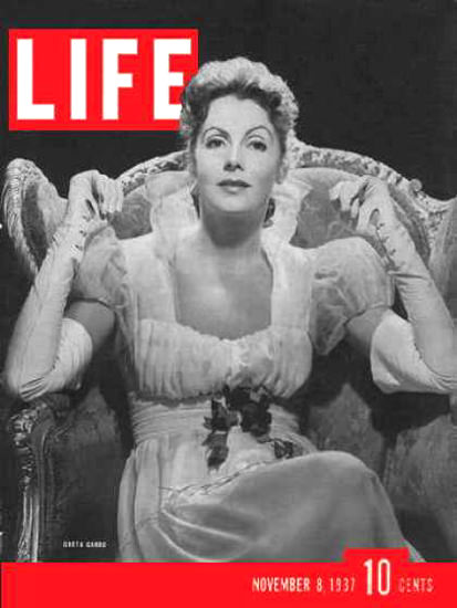 Life Magazine Cover Copyright 1937 Greta Garbo | Sex Appeal Vintage Ads and Covers 1891-1970