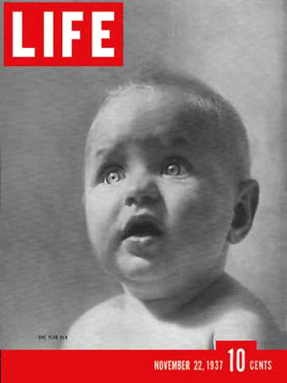 Life Magazine Cover Copyright 1937 LIFE Is One Year Old | Vintage Ad and Cover Art 1891-1970
