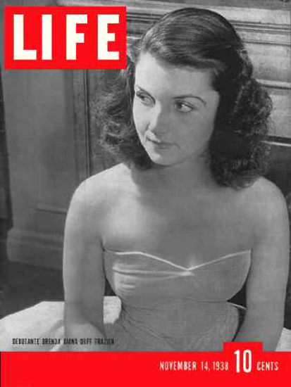 Life Magazine Cover Copyright 1938 Brenda Frazier | Sex Appeal Vintage Ads and Covers 1891-1970