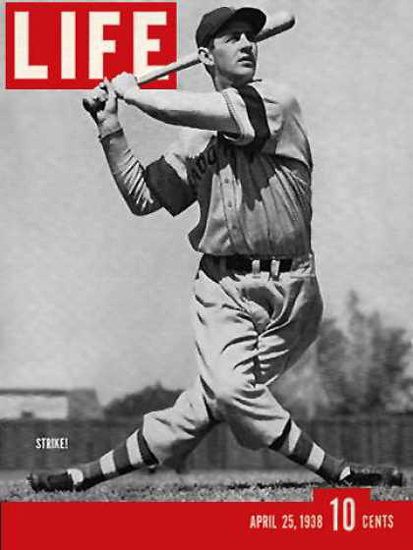 Life Magazine Cover Copyright 1938 Brooklyn Dodger Strike | Vintage Ad and Cover Art 1891-1970