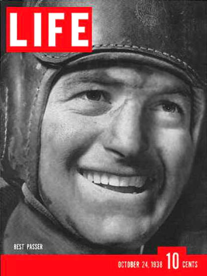 Life Magazine Cover Copyright 1938 Sid Luckman | Vintage Ad and Cover Art 1891-1970