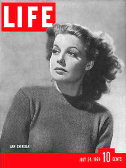 Life Magazine Cover Copyright 1939 Ann Sheridan | Sex Appeal Vintage Ads and Covers 1891-1970