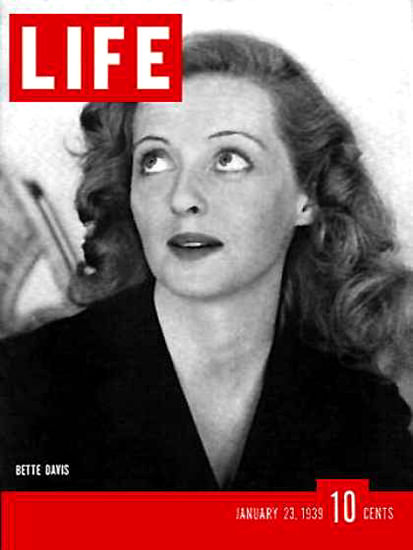 Life Magazine Cover Copyright 1939 Bette Davis | Sex Appeal Vintage Ads and Covers 1891-1970