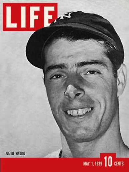 Life Magazine Cover Copyright 1939 Joe DiMaggio | Vintage Ad and Cover Art 1891-1970