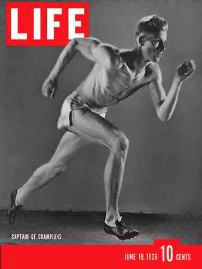 Life Magazine Cover Copyright 1939 USC Sprinter | Vintage Ad and Cover Art 1891-1970