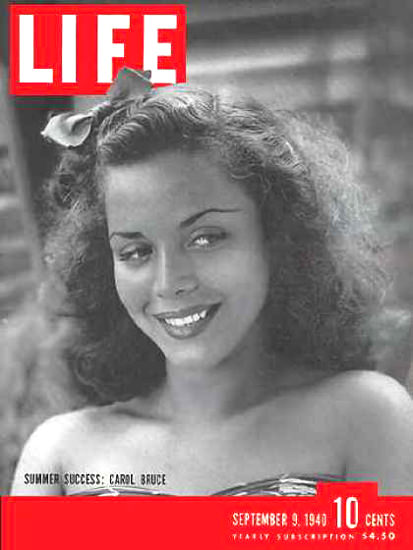Life Magazine Cover Copyright 1940 Carol Bruce | Sex Appeal Vintage Ads and Covers 1891-1970