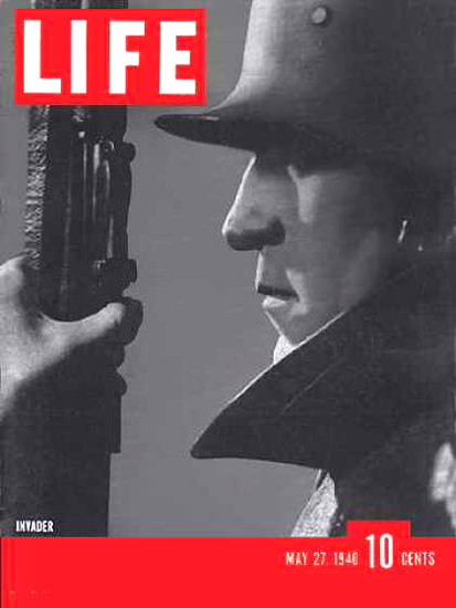 Life Magazine Cover Copyright 1940 German Invader | Vintage Ad and Cover Art 1891-1970