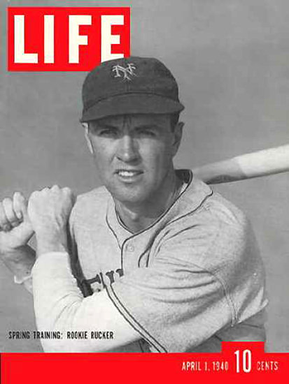 Life Magazine Cover Copyright 1940 New York Giant | Vintage Ad and Cover Art 1891-1970