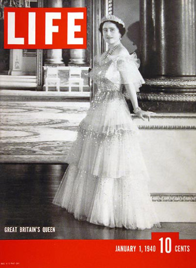 Life Magazine Cover Copyright 1940 Queen Elizabeth | Vintage Ad and Cover Art 1891-1970