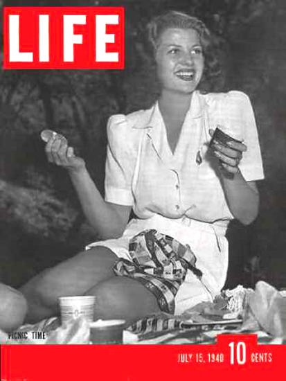 Life Magazine Cover Copyright 1940 Rita Hayworth | Sex Appeal Vintage Ads and Covers 1891-1970