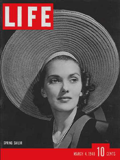 Life Magazine Cover Copyright 1940 Spring Sailor Hats | Vintage Ad and Cover Art 1891-1970