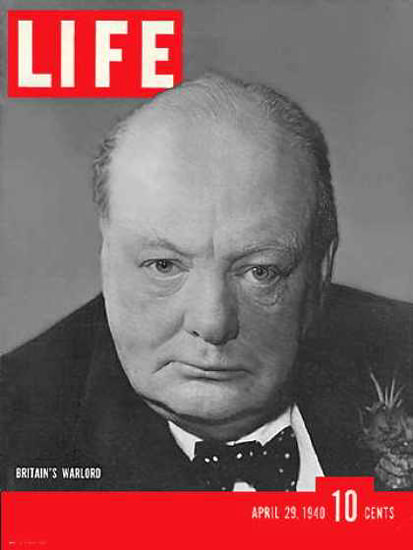 Life Magazine Cover Copyright 1940 Winston Churchill | Vintage Ad and Cover Art 1891-1970