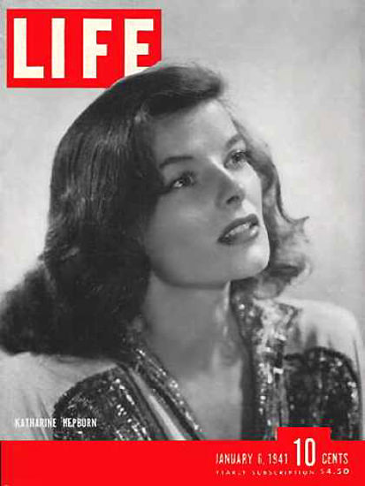 Life Magazine Cover Copyright 1941 Katharine Hepburn | Sex Appeal Vintage Ads and Covers 1891-1970