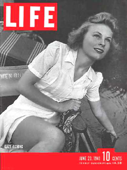 Life Magazine Cover Copyright 1941 Lazy Fishing in Ozarks | Sex Appeal Vintage Ads and Covers 1891-1970