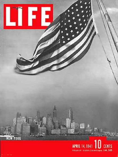 Life Magazine Cover Copyright 1941 New York Harbor | Vintage Ad and Cover Art 1891-1970
