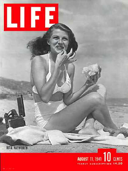 Life Magazine Cover Copyright 1941 Rita Hayworth | Sex Appeal Vintage Ads and Covers 1891-1970