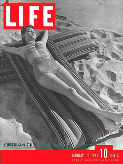 Life Magazine Cover Copyright 1941 Southern Resort Styles   Sex Appeal Vintage Ads and Covers 1891-1970