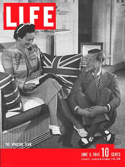 Life Magazine Cover Copyright 1941 The Windsors | Vintage Ad and Cover Art 1891-1970