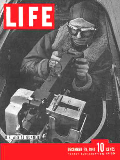 Life Magazine Cover Copyright 1941 US Aerial Gunner | Vintage Ad and Cover Art 1891-1970